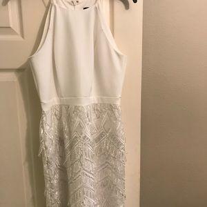Dresses & Skirts - White designer beaded dress
